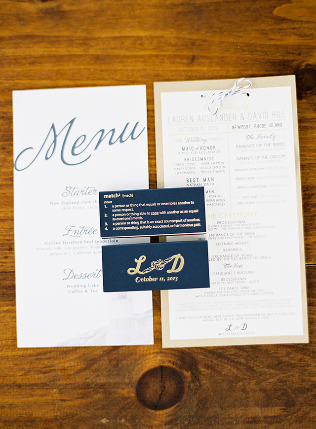 Auslander Wedding_Program and Matches_lo