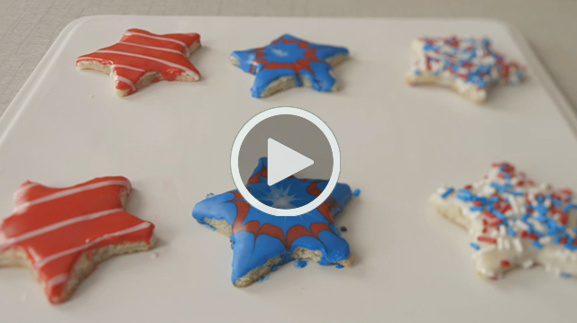 DIY Video Patriotic Cookies