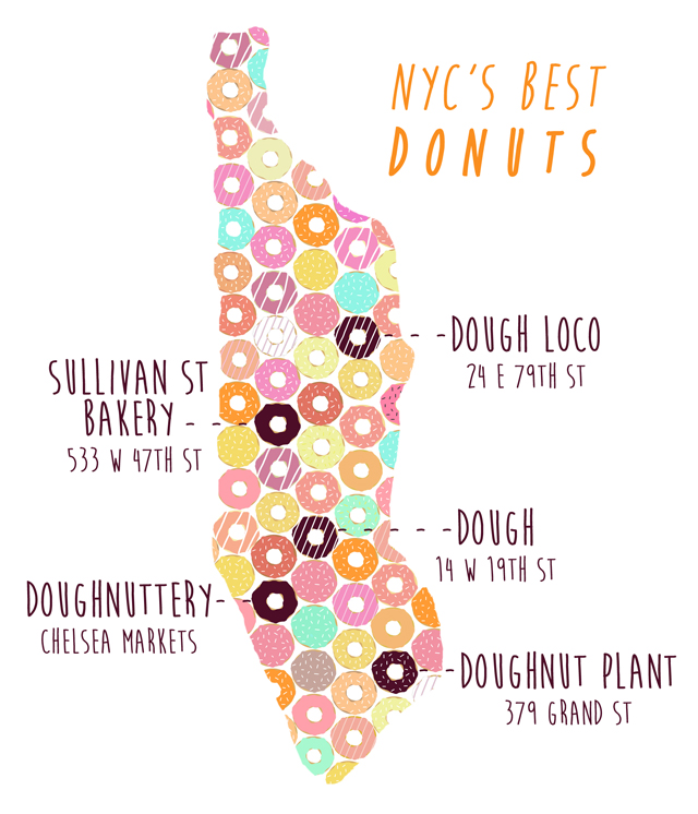 Donut Map of NYC