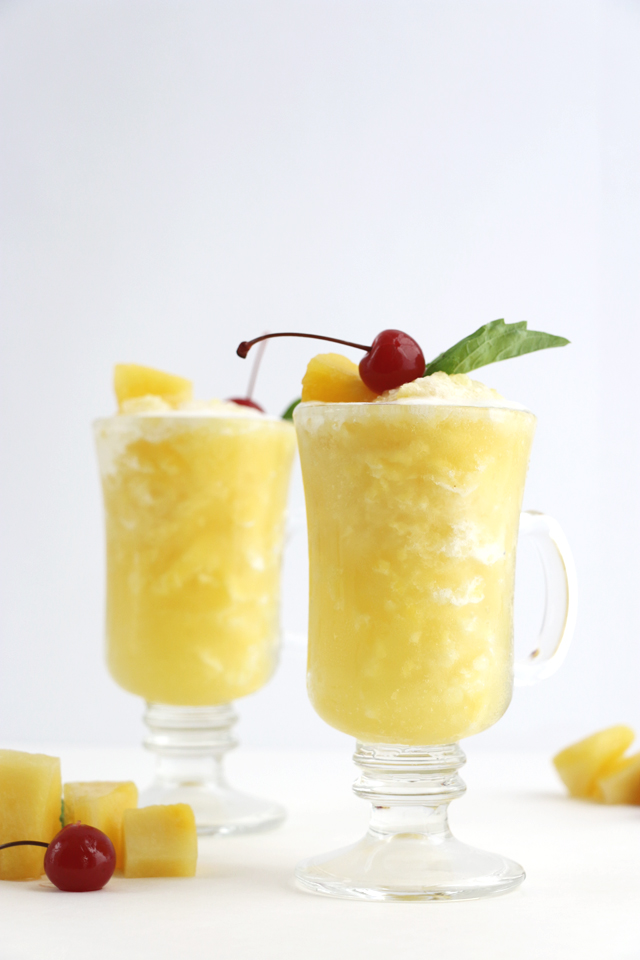 Pineapple Juice Slushie