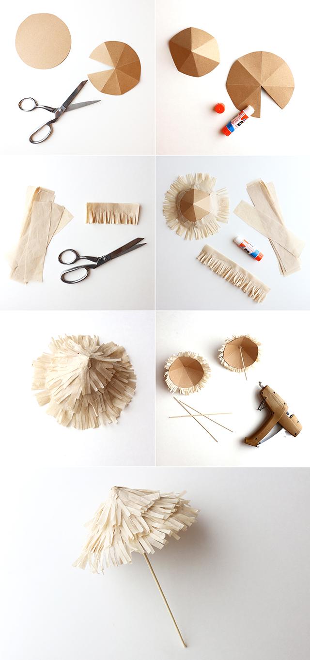 Tiki Umbrella DIY