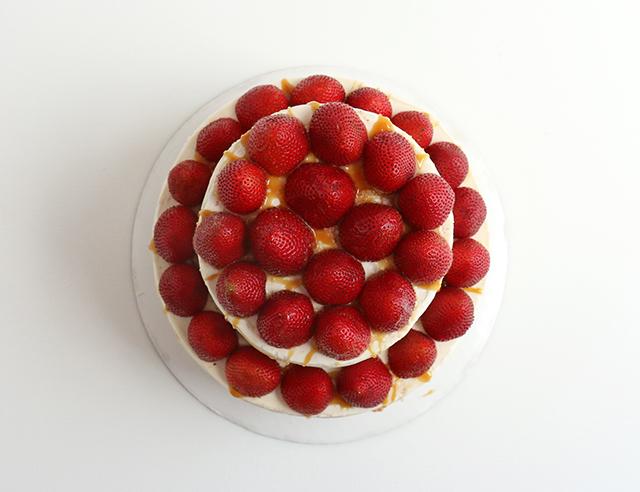 Strawberry Salted Caramel Cake