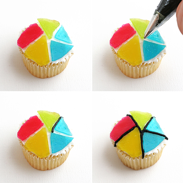 Stained Glass Cupcakes DIY