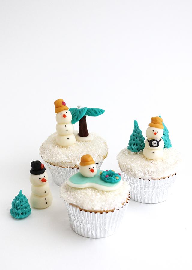 Snowmen Cupcake Toppers