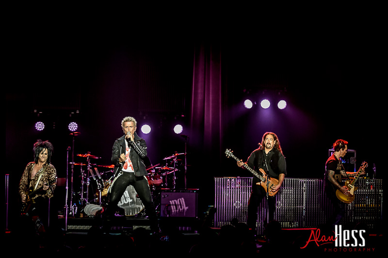 Billy Idol performs on May 24, 2013 during their 2103 Tour at Pechanga Resort in Temecula,  California