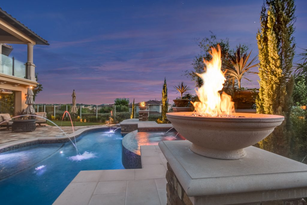 Concrete Patio Ideas Fire Pits For Pool And Deck | Alan Smith Pools