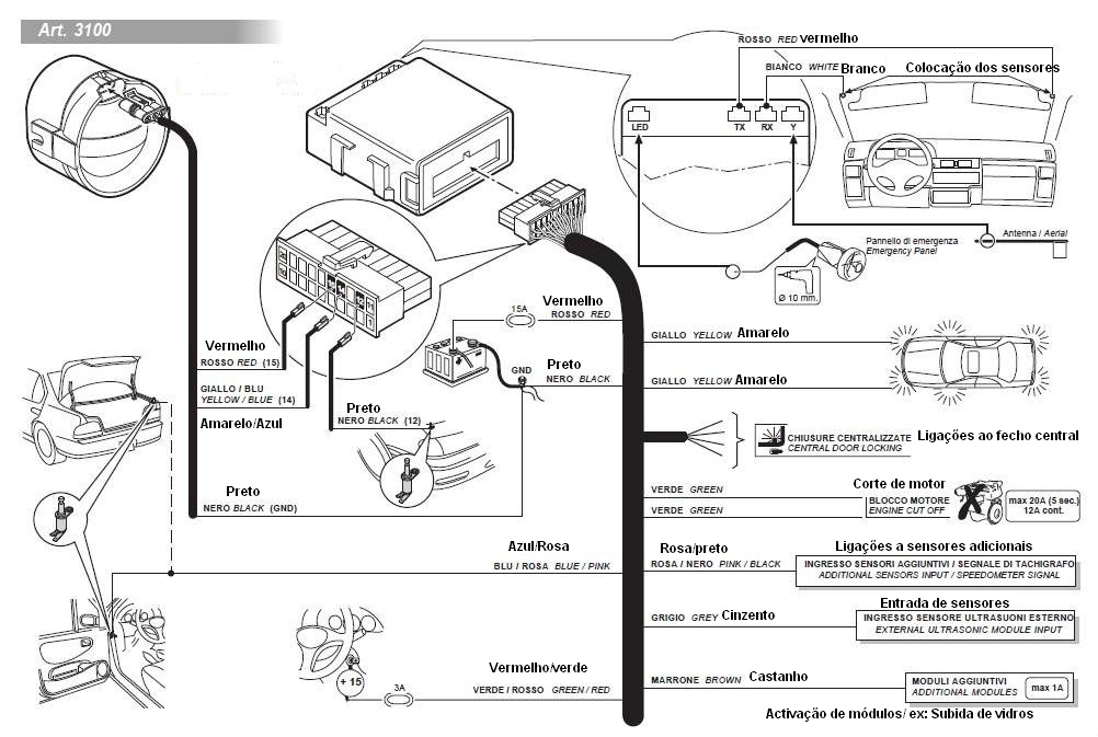 cobra 3865 alarm wiring diagram