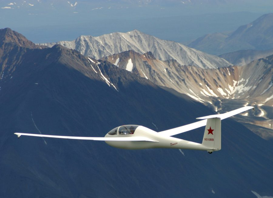 Alaska aviation, Russia Motorglider, Denali National Park