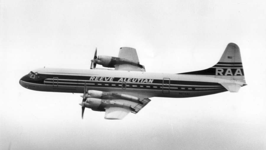 RAA Lockheed Electra in flight.