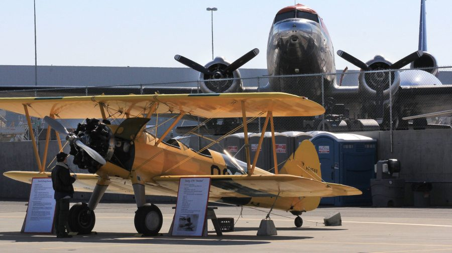 Stearman, DC-3 at the Alaska Airmen Association Great Alaska Aviation Gathering