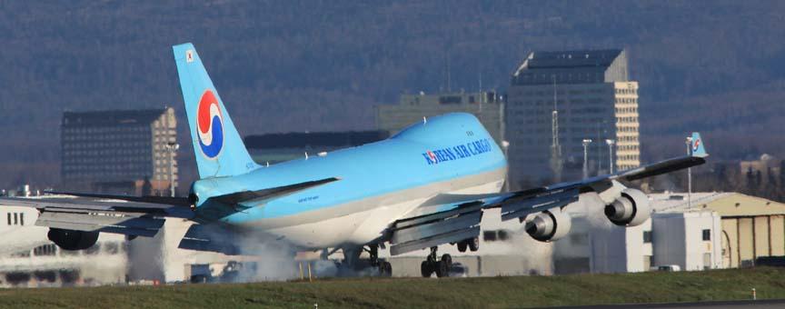 KAL Cargo Jet at PANC. photo Rob Stapleton/Alaskafoto