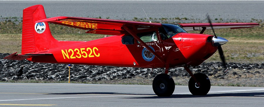 Paul Claus 180 at the Valdez 2014 airshow and Fly-In