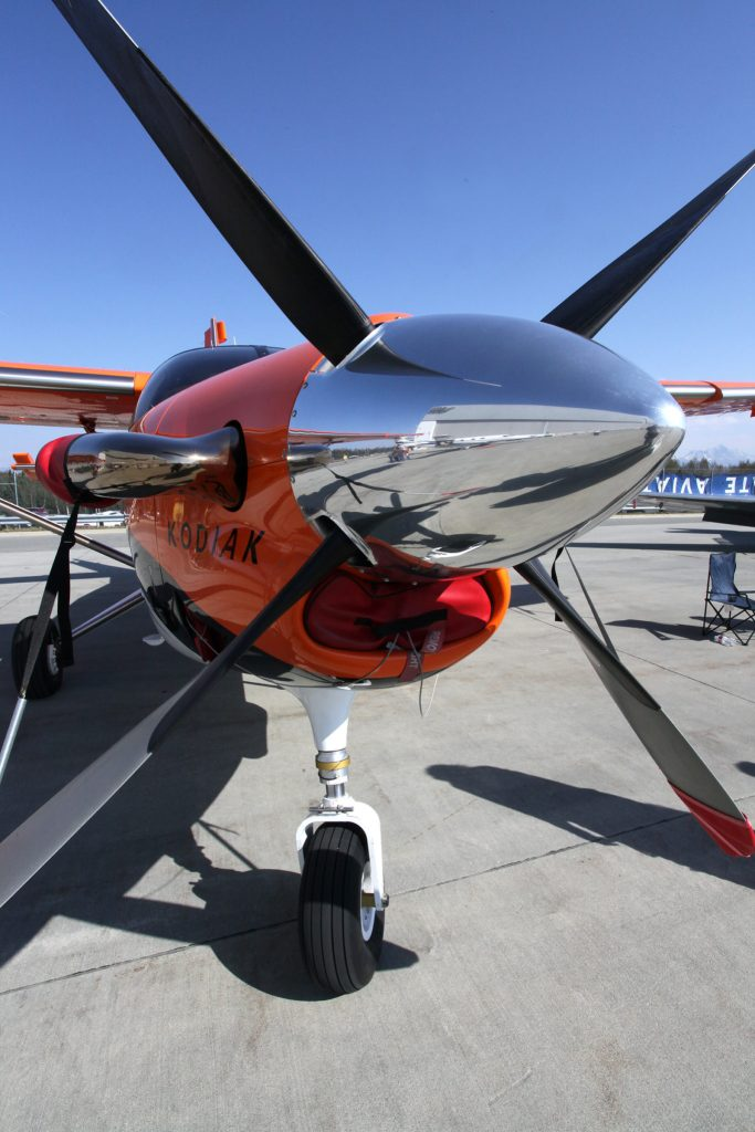 A Quest propeller at the Alaska Airmen Association Great Alaska Gathering. Photo by Rob Stapleton/Alaskafoto