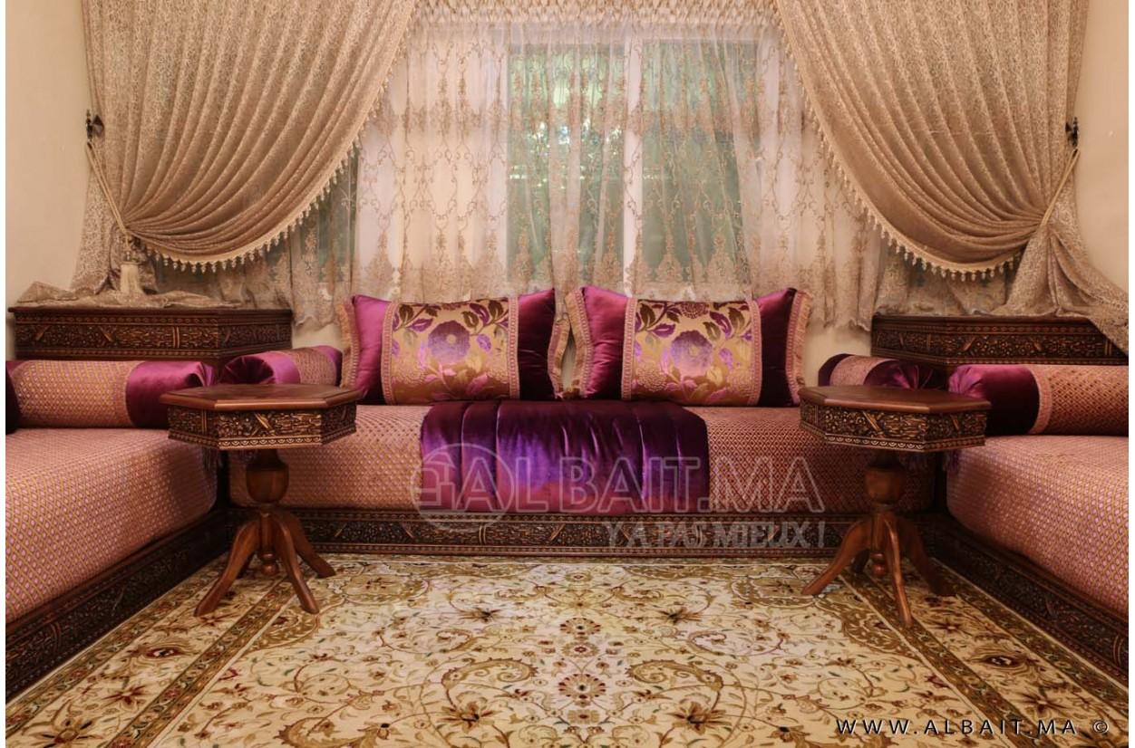 Salons Marocain   Stunning Salon Marocain Mauve Et Beige Pictures ...
