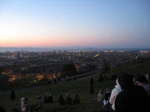 Waiting for sunset on Calton Hill