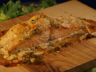 Beltane Salmon on a Plank of Native Ash