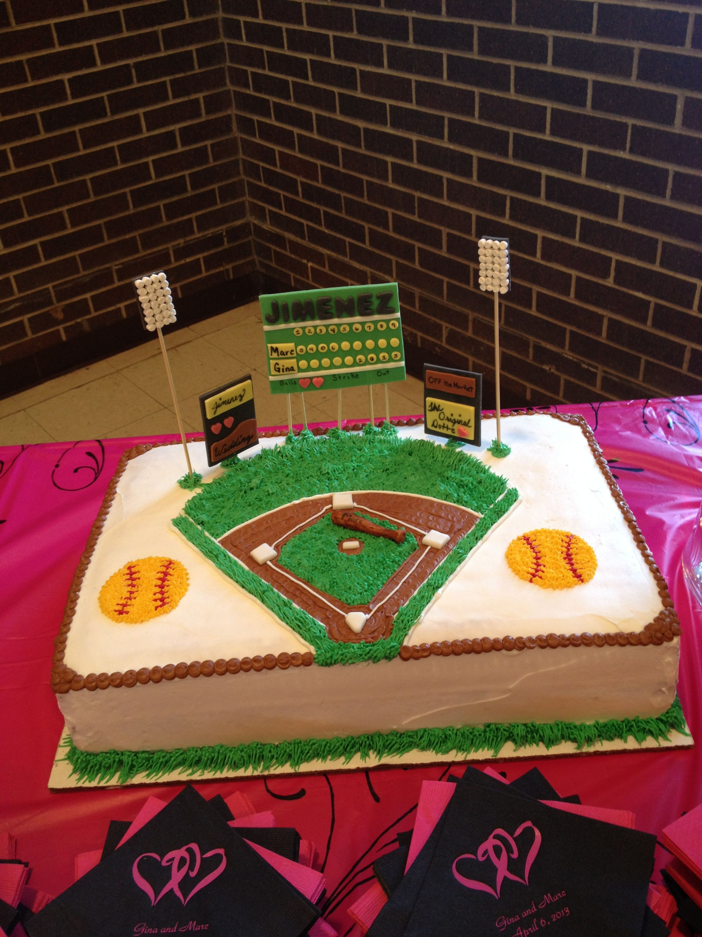 Discount Küchen Softball Birthday Cakes Softball Field Cake I Want This For My