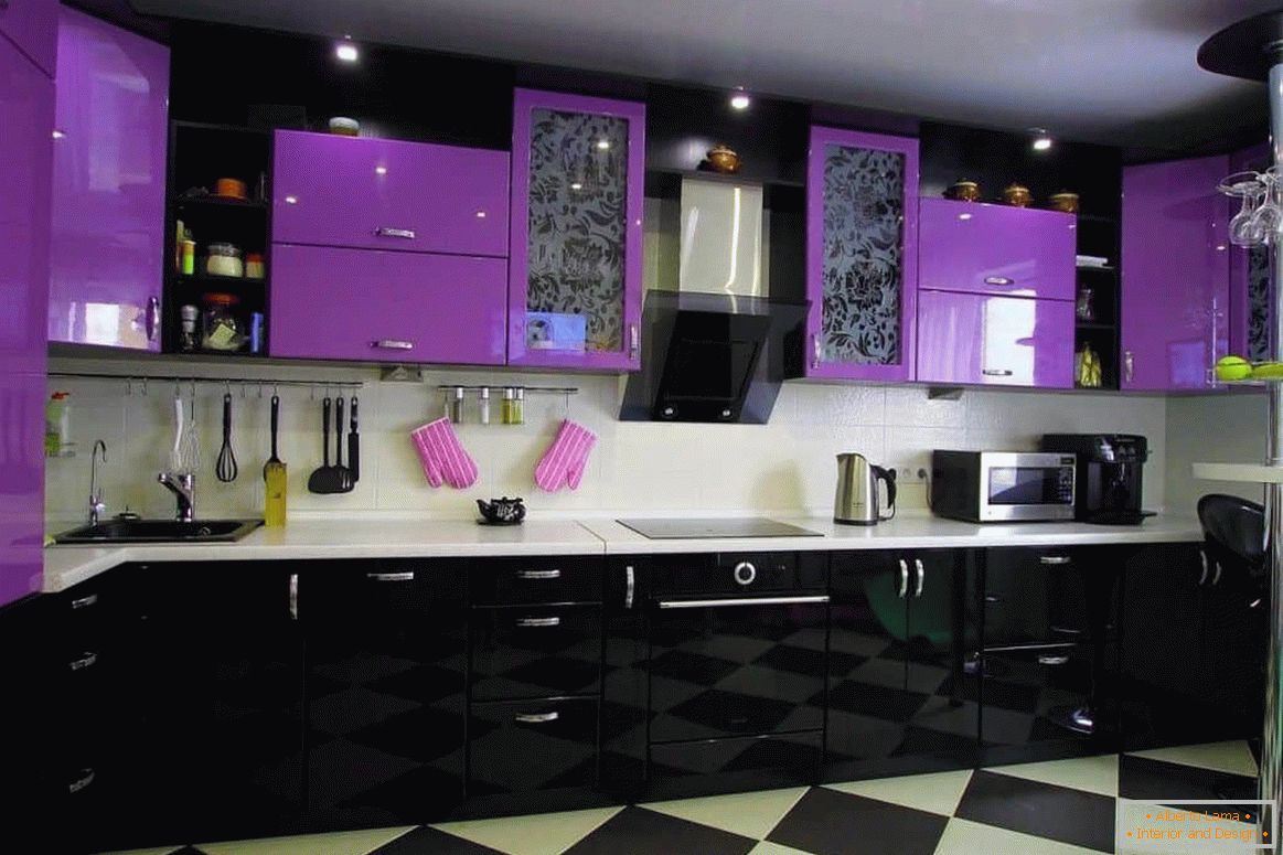 Cuisine Mauve Purple Color In The Interior And Its Combination