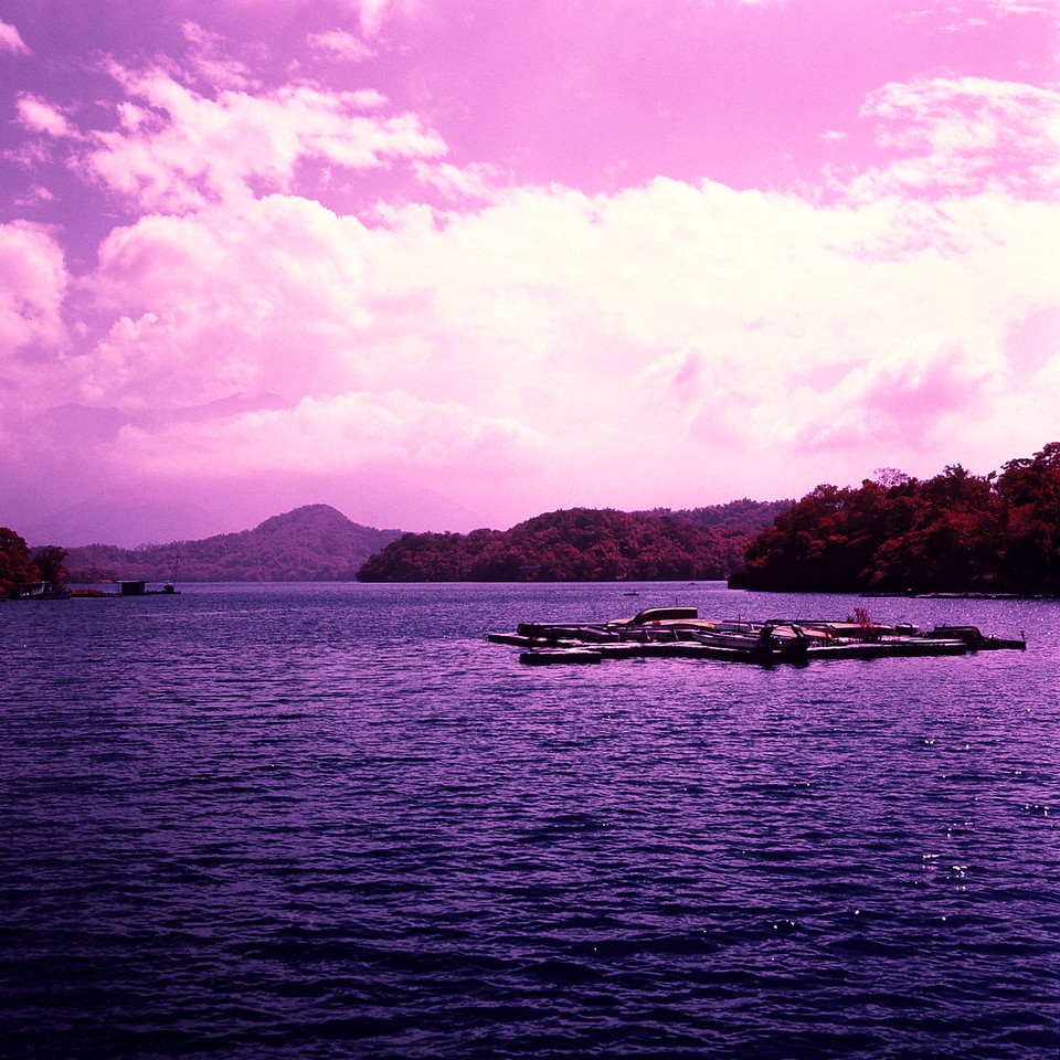 Squid boat - Kodak Aerochrome 1443 - ISO200 - Planar 80/2.8 - Orange #21 filter / 120 as 6x4.5