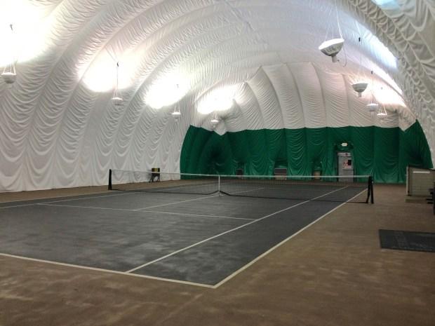 Indoor tennis, anyone?