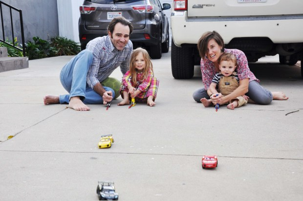 These cars were a huge hit for the kids. They are almost parent-proofed. You see the bruise on Cecitos forehead that I had to clean up for the other shots?