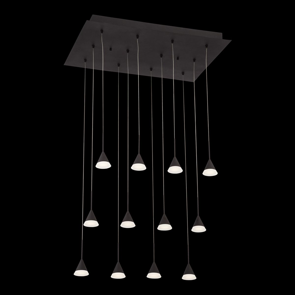 Led Chandelier Eurofase Lighting Albion 12 Light Led Chandelier