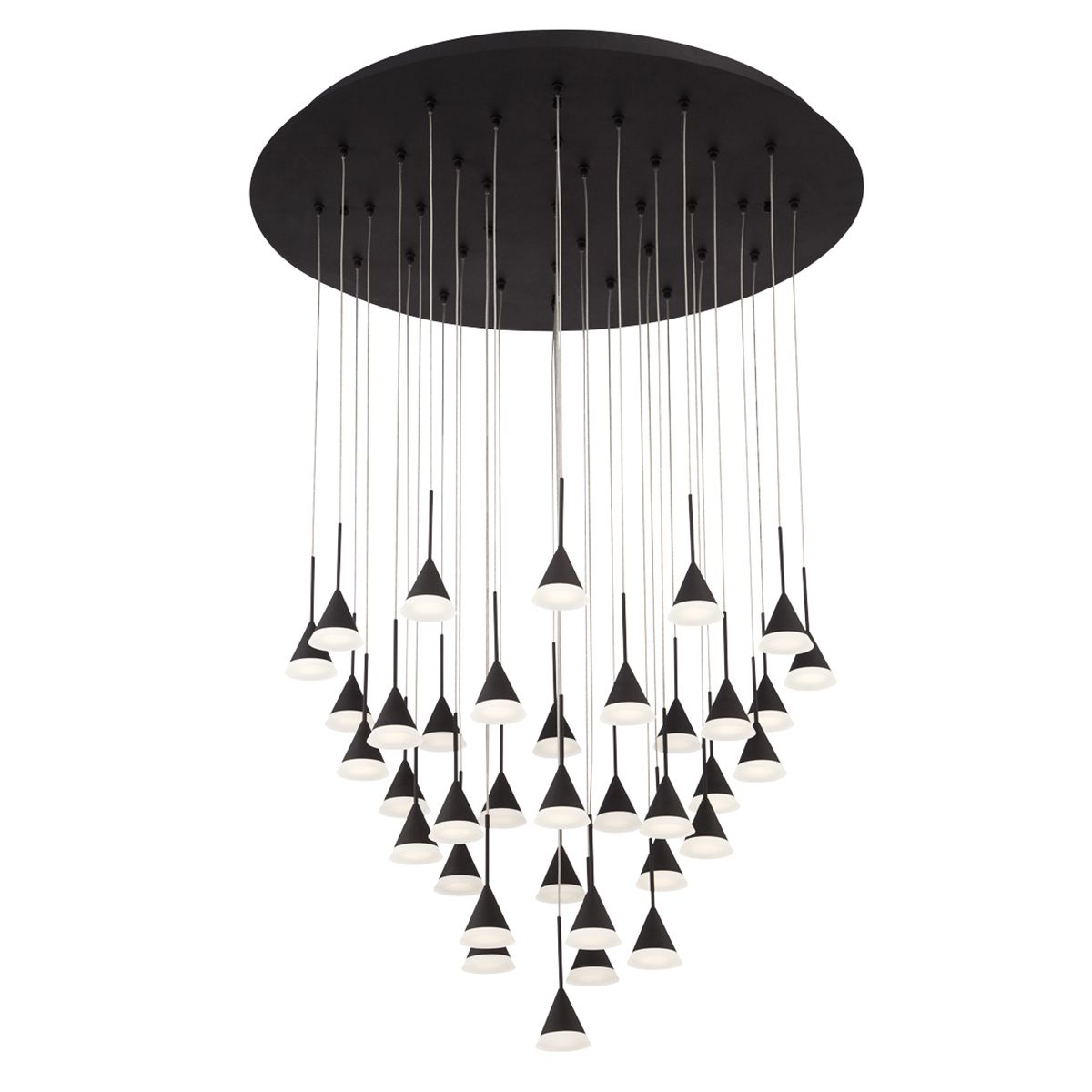 Led Chandelier Eurofase Lighting Albion 36 Light Led Chandelier