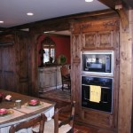 Knotty Alder Kitchen with a Walnut stain.