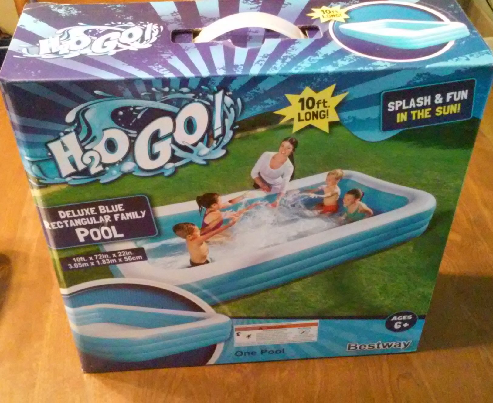 Aldi Intex Pool H2o Go Deluxe Blue Rectangular Family Pool Aldi Reviewer