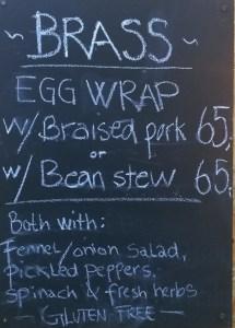 Copenhagen street food brass menu