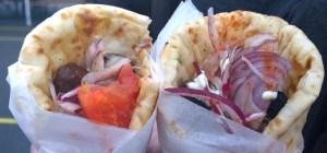 Dalston food market souvlaki