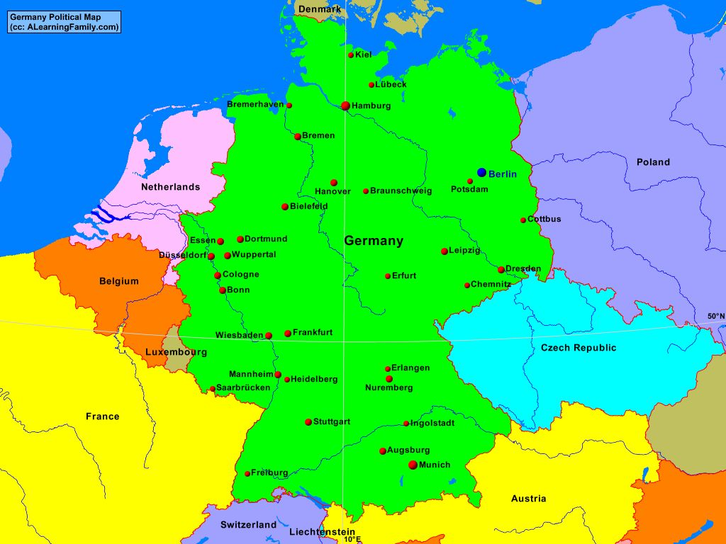 Maps Saarbrücken Germany Political Map A Learning Family