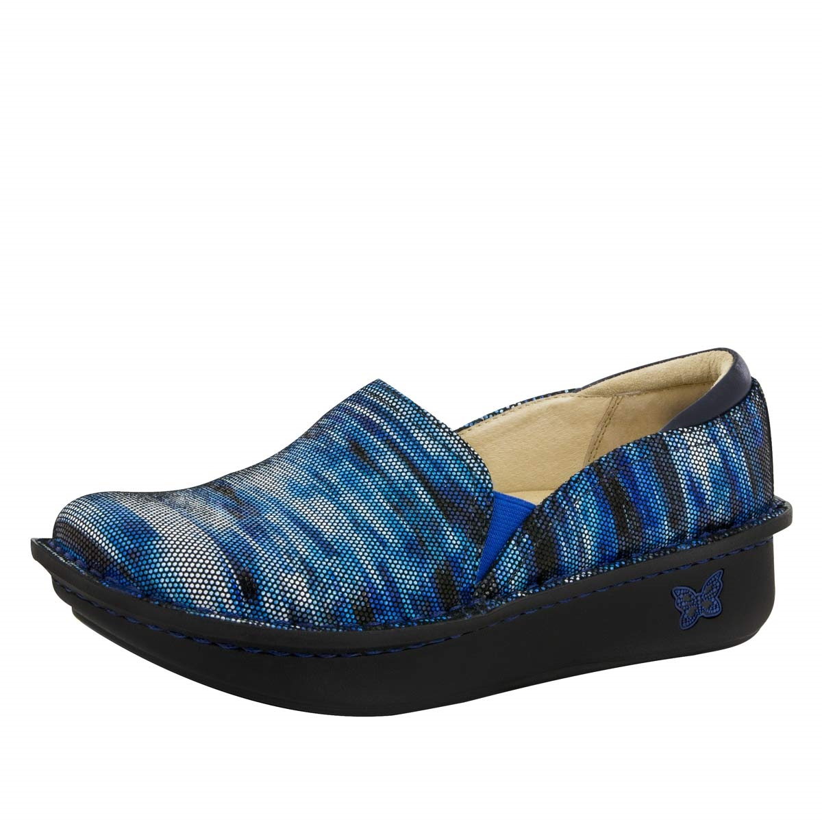 Madi Home Alegria Debra Wavy Navy | Nursing Shoes