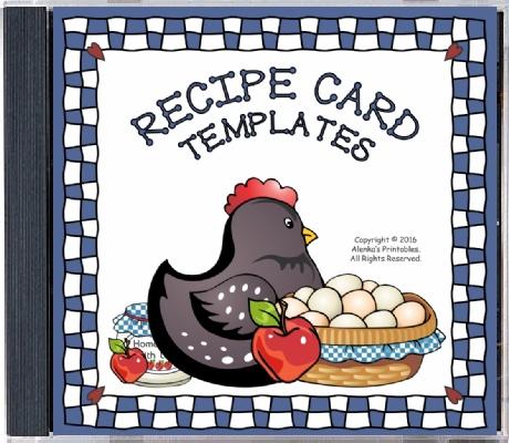 Recipe Card Templates for MS WORD - Alenka\u0027s Printables
