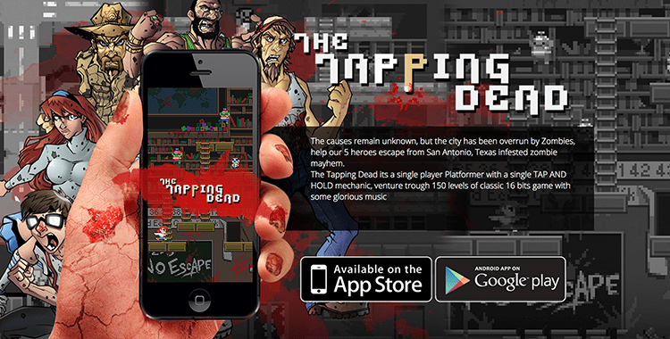 The Tapping Dead, a One-Touch Platformer Puzzle Game
