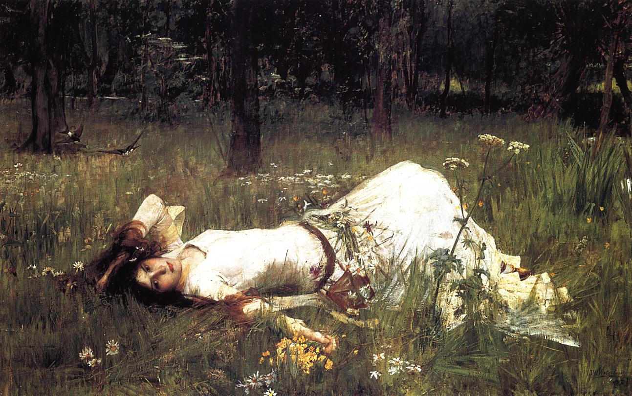 Pittura Preraffaellita Inglese Ophelia Opera Di John William Waterhouse