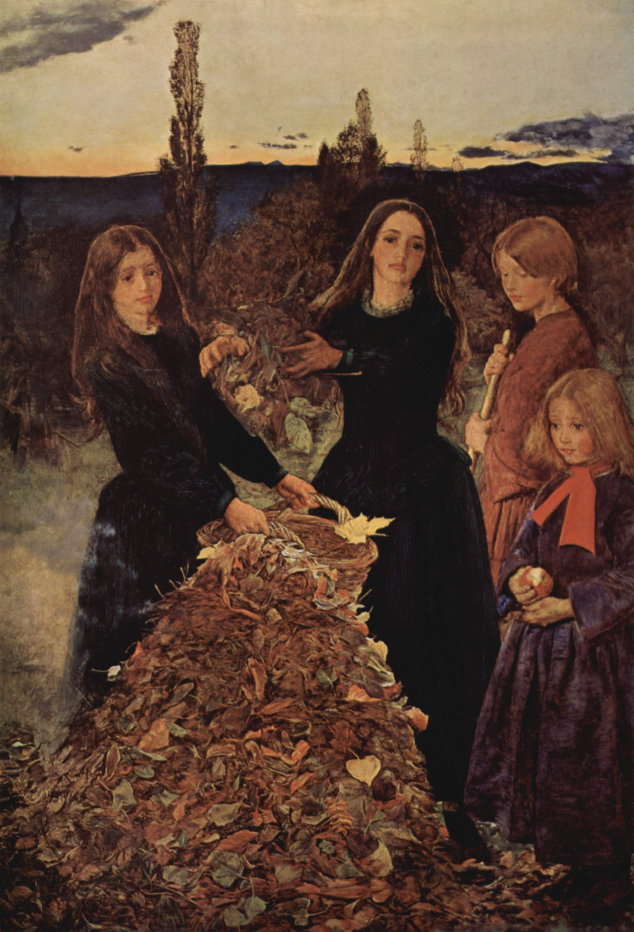 Pittura Preraffaellita Inglese Autumn Leaves Opera Di John Everett Millais