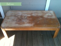 Before & After: Bold, Painted Herringbone Coffee Table ...