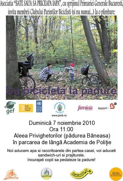 Cu bicicleta la padure 7noiembrie 2010