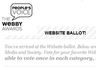 Webby Awards ballot site