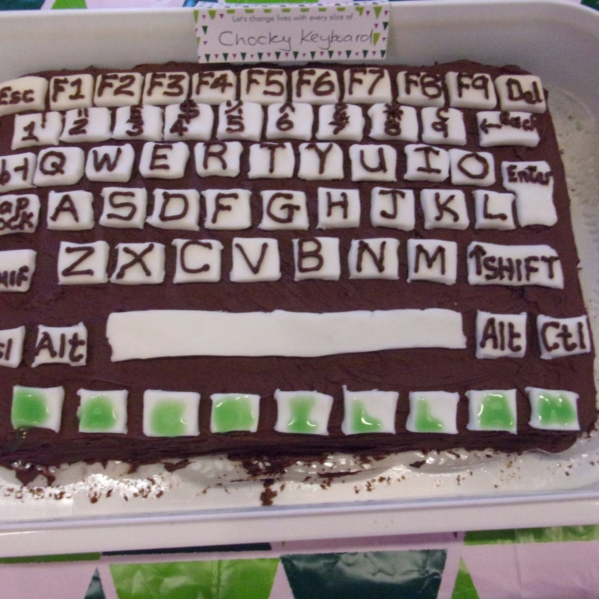 Keyboard Kuchen Alexander Hosea Primary School Macmillan Coffee Morning 13 10 17