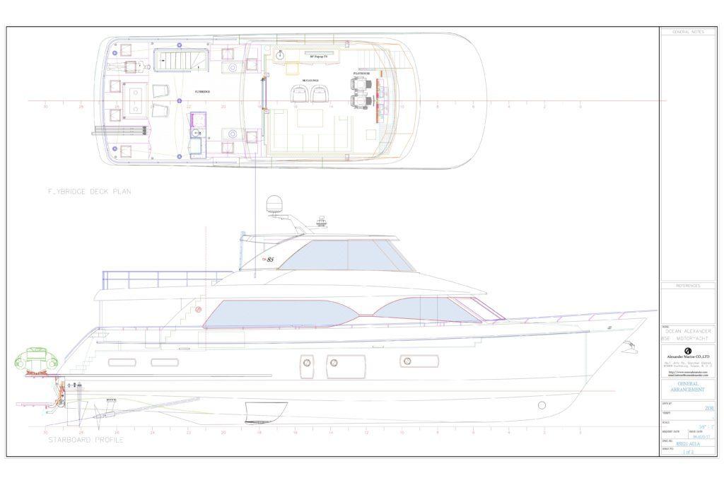 motor yacht diagrams