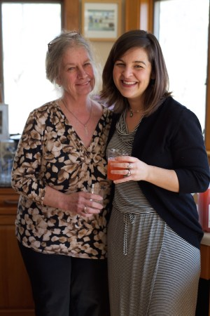 Poet Susan Roney-O'Brien with Alexandra Hinrichs (