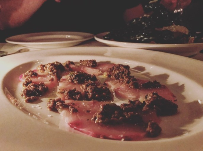 Um, more truffle. This yellowtail carpaccio had porcini and truffle preserves with a touch of citrus.