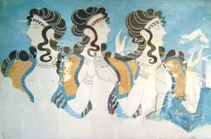 Knossos_fresco_women By cavorite - http://www.flickr.com/photos/cavorite/98591365/in/set-1011009/, CC BY-SA 2.0, https://commons.wikimedia.org/w/index.php?curid=1350752