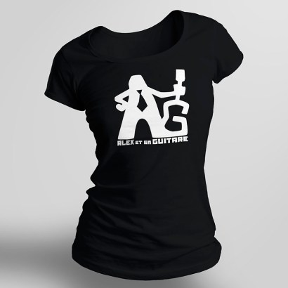 t-shirt femme noir recto seul