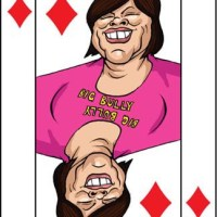 Card-i-cature a week... Week 3 - Jade Goody (the 2 of Diamonds)