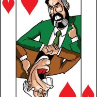 Card-i-cature a week... Week 13 - Gerry Adams and Ian Paisley (and Illustration Friday - Snap)