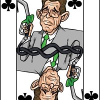 Card-i-cature a week... Week 18 - Lord Browne (the 5 of Clubs)