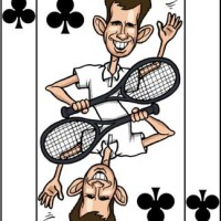 Card-i-cature a week... Week 35 - Tim Henman (the Seven of Clubs)